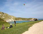 Lulworth Cove on the Jurassic Coast, Dorset, England