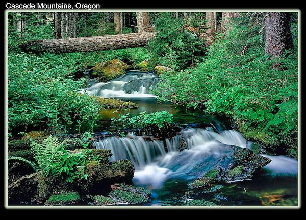 Waterfall in Cascade Mountains, Elkhorn, Oregon