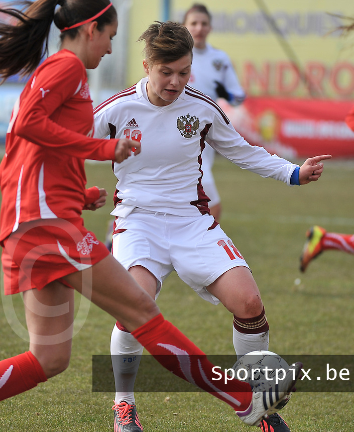 Switzerland U19 - Russia U19 : Darya Kitsa.foto DAVID CATRY / Nikonpro.be