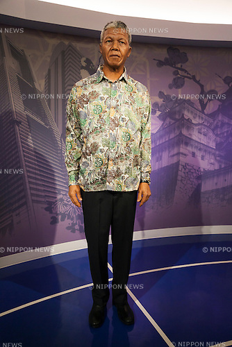 A wax figure of Nelson Mandela, South Africa politician on display at the Madame Tussauds Tokyo wax museum in Odaiba, Tokyo, June 15, 2015. The world famous British wax museum ''Madame Tussauds'' opened its 14th permanent branch in Tokyo in 2013 and exhibits international and local celebrities, sports players and politicians. New additions to the collection include wax figures of the Japanese figure skater Yuzuru Hanyu and the actor Benedict Cumberbatch. The wax figure of Benedict Cumberbatch will be exhibited until June 30th. (Photo by Rodrigo Reyes Marin/AFLO)
