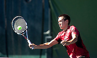 Brandon Sutter, with the Stanford Men's Tennis Team. Photo taken on Monday, September 23, 2013.