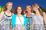 Ciara Fleming, Louise Kennedy, Patricia Flannery, Ruth Flannery, Dingle having fun at the Rose of Tralee festivities at Pearse Park  on Friday.