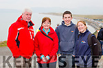 Corad and Avril Sreenan, Anthony O'Shea and Trisha Deane at the new walkway opening in Rossbeigh on Saturday