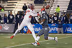 New Mexico receiver Marcus Williams (88) can't make the catch as Nevada's Tyson Williams (6) defends in the second half of an NCAA college football game in Reno, Nev., Saturday, Nov. 2, 2019. (AP Photo/Tom R. Smedes)