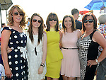 Amanda, Vicky, Debbie and Maura Monaghan and Roisín Everard at Bellewstown races. Photo:Colin Bell/pressphotos.ie
