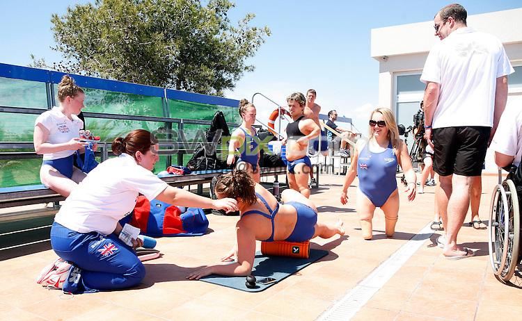 PICTURE BY VAUGHN RIDLEY/SWPIX.COM - Disability Swimming - Warm Weather Training Camp - Best Swim Centre, Colonia Sant Jordi, Mallorca, Spain - 23/05/12 - Charlotte Henshaw.