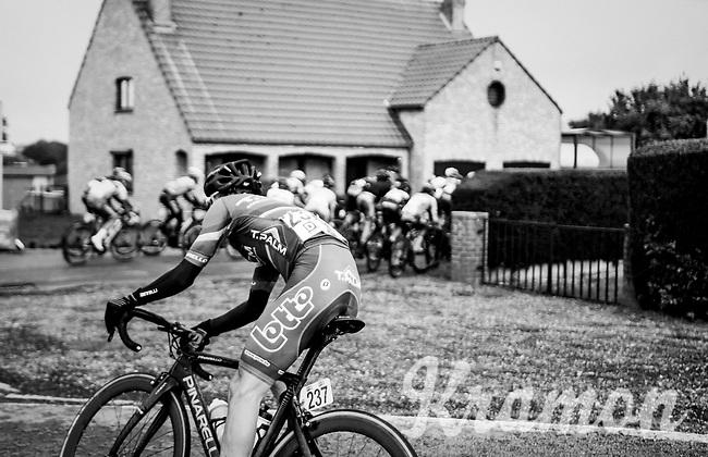 Yorick Slagmulders (BEL/T.Palm - Pole Continental Wallon) turning into the corner<br /> <br /> 2018 Binche - Chimay - Binche / Memorial Frank Vandenbroucke (1.1 Europe Tour)<br /> 1 Day Race: Binche to Binche (197km)