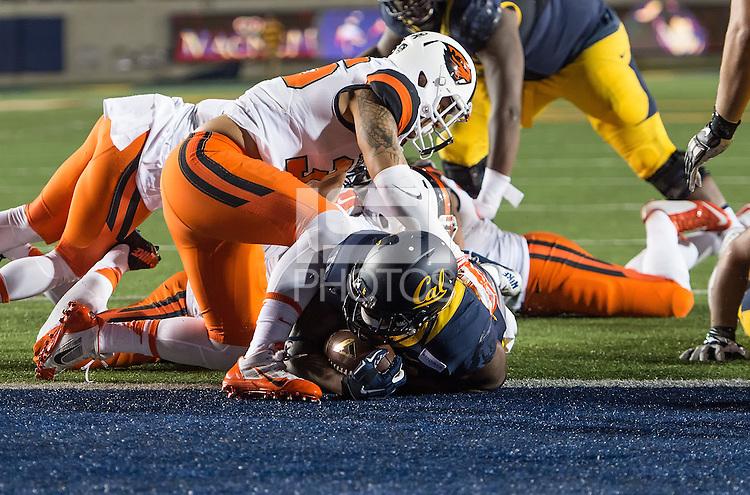 BERKELEY, CA - November 14, 2015: The Cal Bears Football team vs the Oregon State Beavers at California Memorial Stadium in Berkeley, CA.  Final score, Cal Bears 54, Oregon State Beavers 24.