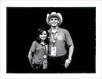 RNC Delegates, Guests, Attendees:..Trey Stinnett, Texas Delegate, and girlfriend Paula Stag, Alternate Texas Delegate. Polaroid Portraiture and Reportage from the 2008 Political Conventions