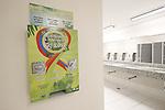 Condom dispenser, AUGUST 3, 2016 : A condom dispenser is seen in restroom at the Rio de Janeiro Olympic Games main press centre (MPC) in Rio de Janeiro, Brazil. (Photo by AFLO)