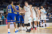 Real Madrid Luka Doncic, Jeffery Taylor, Fabien Causeur and Gustavo Ayon during Turkish Airlines Euroleague match between Real Madrid and Khimki Moscow at Wizink Center in Madrid, Spain. November 02, 2017. (ALTERPHOTOS/Borja B.Hojas) /NortePhoto.com