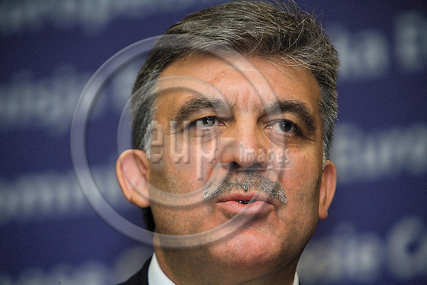 BRUSSELS - BELGIUM - 26 MARCH 2009 -- Turkey's President Abdullah Gul hold a joint news conference with European Commission President at the EC headquarters in Brussels. Gul is on a one-day visit to Belgium..  Photo: Erik Luntang/EUP-IMAGES