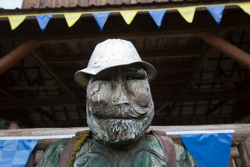 "A wooden carving of a lumberjack is seen at the annual ""Territorial Days"" festival in Amboy Sunday July 10, 2016. Other events during the celebration included a logging show, musical performances, an art show and a carnival. The celebration highlights the area's connection to logging and pioneering.   (Photo by Natalie Behring/ for the The Columbian)"