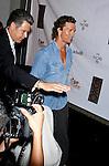 Actor Matthew McConaughey and baby arrive at the launch of Camila Alves 's Handbag Collection MUXO at Kitson Studio on August 7, 2008 in Los Angeles, California.