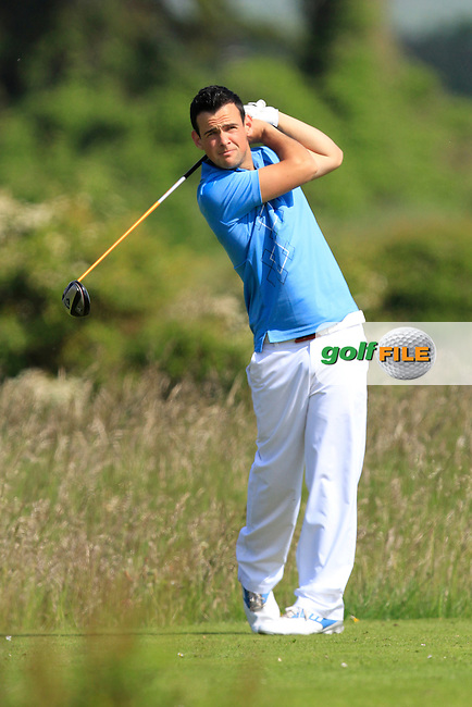 Paul Coughlan (Moate) on the 2nd tee during Round 1 of the East of Ireland in the Co. Louth Golf Club at Baltray on Saturday 31st May 2014.<br /> Picture:  Thos Caffrey / www.golffile.ie