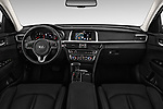 Stock photo of straight dashboard view of 2017 KIA Optima-Sportswagon Fusion 5 Door Wagon Dashboard