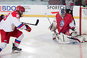 Bonnyville, AB - Dec 10 2018 - Russia vs. Czech Republic during the 2018 World Junior A Challenge at the R.J. Lalonde Arena in Bonnyville, Alberta, Canada (Photo: Matthew Murnaghan/Hockey Canada)