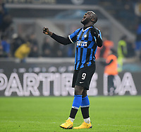 9th February 2020, Milan, Italy; Serie A football, AC Milan versus Inter-Milan; Romelu Lukaku celebrates his goal in the 93rd minute for 4-2
