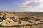 Isarael, Negev, ruins of Avdat, built in the 1st century by the Nabateans. A world Heritage Site as part of the Spice Route, the Wine Press