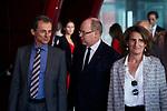 Prince Albert II De Monaco and Pedro Duque attends to Fondation Prince Albert II De Monaco Awards at Reina Sofia Museum in Madrid, Spain. June 20, 2019. (ALTERPHOTOS/A. Perez Meca)