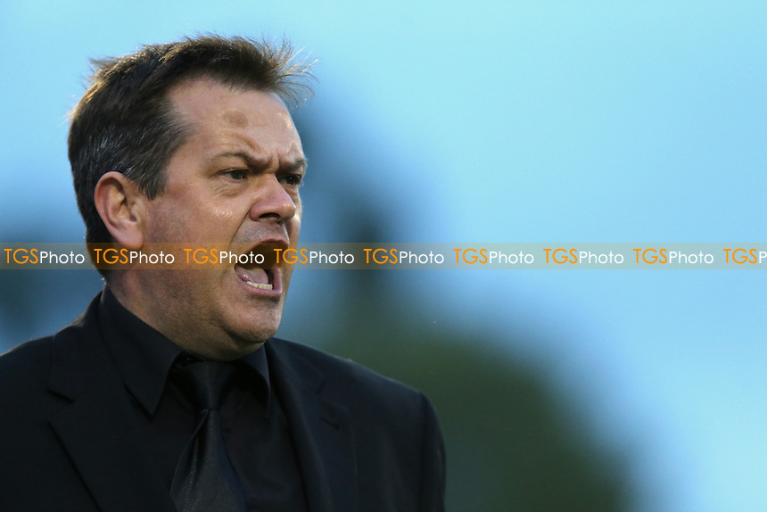 Merstham Manager Hayden Bird during Merstham vs Metropolitan Police, Surrey Senior Cup Final Football at The Laithwaite Community Stadium on 6th May 2015