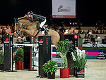 Martin Fuchs of Switzerland riding Picsou du Chene in action during the Longines Speed Challenge competition as part of the Longines Hong Kong Masters on 13 February 2015, at the Asia World Expo, outskirts Hong Kong, China. Photo by Li Man Yuen / Power Sport Images