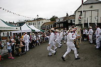 Morris dancers in Broadstairs, Kent, UK