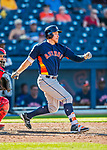 28 February 2017: Houston Astros outfielder Jon Kemmer in action during the Spring Training inaugural game against the Washington Nationals at the Ballpark of the Palm Beaches in West Palm Beach, Florida. The Nationals defeated the Astros 4-3 in Grapefruit League play. Mandatory Credit: Ed Wolfstein Photo *** RAW (NEF) Image File Available ***