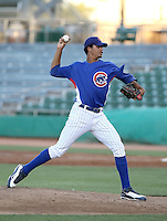 Starling Peralta #65 of the AZL Cubs plays against the AZL Giants on Opening Night of the 2011 Arizona League season at Hohokam Stadium on June 20, 2011 in Mesa, Arizona. (Bill Mitchell/Four Seam Images)