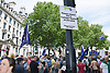Anti Brexit demo, London 23 June 2018 UK. Campaign for a People's Vote on the final Brexit deal. March passing the Eid celebrations in Trafalgar Square
