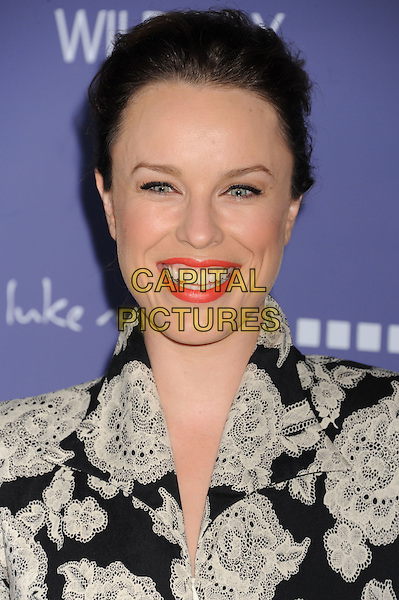 Jessica McNamee.arriving at the 8th Annual Australians In Film Breakthrough Awards & Benefit Dinner at InterContinental Hotel in Century City, California, USA,.June 27th 2012. .portrait headshot smiling black white floral print .CAP/ROT/TM.©TM/Roth Stock/Capital Pictures