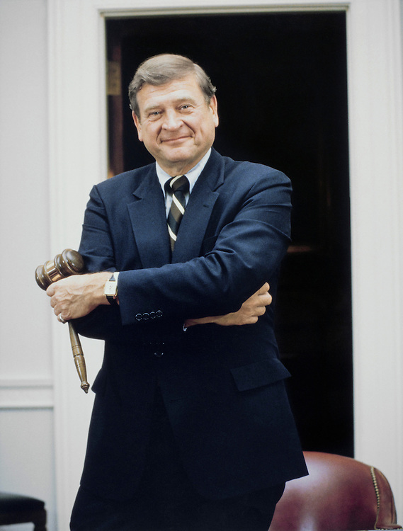"Rep. Daniel David ""Dan"" Rostenkowski, D-Ill., Chairman of the Ways and Means Committee. 1989 (Photo by CQ Roll Call)"