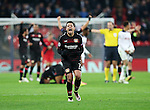 Leverksen's Javier Hernandez celebrates at the final whistle during the Champions League group E match at the Wembley Stadium, London. Picture date November 2nd, 2016 Pic David Klein/Sportimage