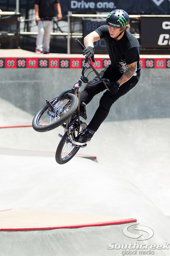 BMX Freestyle Park Elimination at Event Deck at L.A. Live in Los Angeles, California.