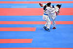 Miho Miyahara (JPN), <br /> AUGUST 27, 2018 - Karate : Women's Kumite -50kg Final at Jakarta Convention Center Plenary Hall during the 2018 Jakarta Palembang Asian Games in Jakarta, Indonesia. <br /> (Photo by MATSUO.K/AFLO SPORT)