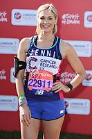 Jenni Falconer<br /> at the start of the 2018 London Marathon, Greenwich, London<br /> <br /> ©Ash Knotek  D3397  22/04/2018