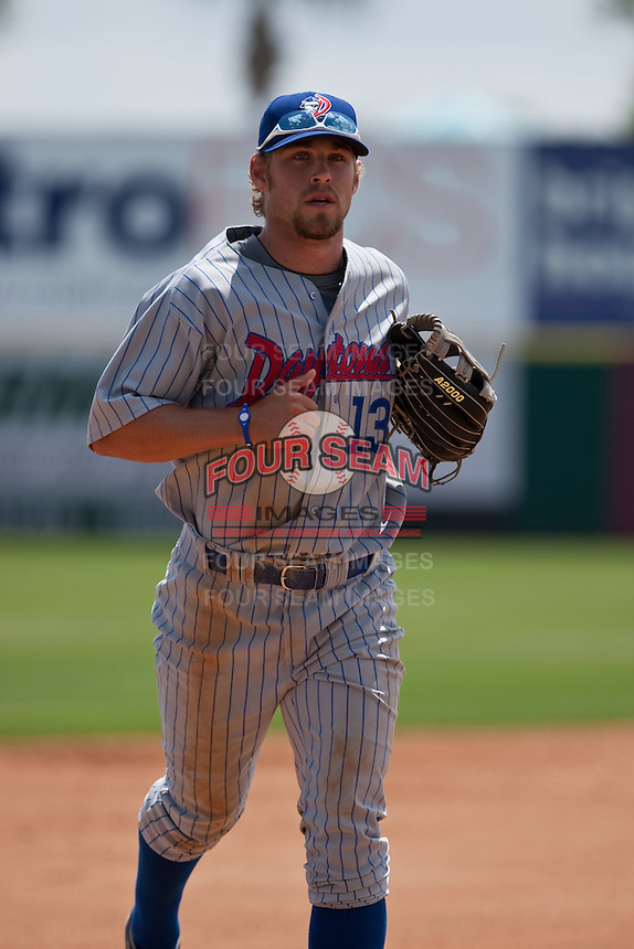 April 11th 2010: Brett Jackson of the Daytona Cubs, the Florida State League High-A affiliate of the Chicago Cubs. In a game against the of the  Brevard County Manatees, the Florida State League High-A affiliate of the Milwaukee Brewers at Space Coast Stadium in Viera, FL (Photo By Scott Jontes/Four Seam Images)