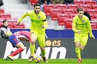 Getafe CF's Jorge Molina (l) and Alvaro Jimenez during La Liga match. January 6,2018. (ALTERPHOTOS/Acero) /NortePhoto.com NORTEPHOTOMEXICO