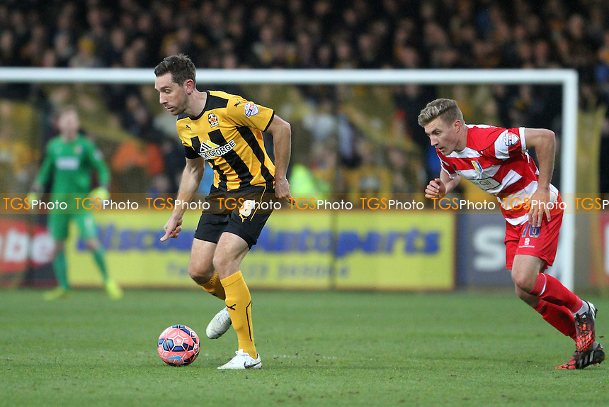 Tom Champion of Cambridge United in possession  - Cambridge United vs Mansfield Town -FA Challenge Cup 2nd Round Football at the Abbey Stadium, Cambridge - 06/12/14 - MANDATORY CREDIT: Mick Kearns/TGSPHOTO - Self billing applies where appropriate - contact@tgsphoto.co.uk - NO UNPAID USE