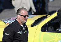 Feb. 24, 2013; Chandler, AZ, USA; Television personality Jesse James in attendance during NHRA eliminations at the Arizona Nationals at Firebird International Raceway. Mandatory Credit: Mark J. Rebilas-