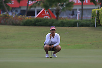 Lizette Salas (USA) in action on the 9th during Round 1 of the HSBC Womens Champions 2018 at Sentosa Golf Club on the Thursday 1st March 2018.<br /> Picture:  Thos Caffrey / www.golffile.ie<br /> <br /> All photo usage must carry mandatory copyright credit (&copy; Golffile | Thos Caffrey)