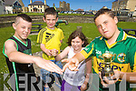 ROCK, PAPER, SCISSORS: Some of the competitors getting ready for the Rock, Paper, Scissors championships which take place at the Ballyheigue Summer Festival next weekend, l-r: Lee O'Sullivan, Jordan Goggin, Nicole O'Sullivan, Jerry O'Halloran (2008 Champion).