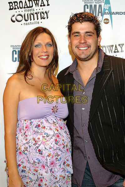 ANN MARIE & JOSH GRACIN.Broadway Meets Country, a benefit for TPAC Education and The Actors' Fund held at the Tennessee Performing Arts Center, Nashville, Tennessee, USA..October 30th, 2006.Ref: ADM/RR.half length purple strapless husband wife married .www.capitalpictures.com.sales@capitalpictures.com.©Randi Radcliff/AdMedia/Capital Pictures