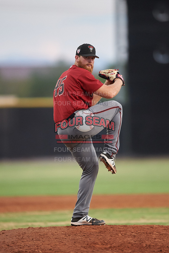AZL D-backs relief pitcher Cody Reed (45) pitches during a rehab assignment in an Arizona League game against the AZL Mariners on August 7, 2019 at Peoria Sports Complex in Peoria, Arizona. AZL D-backs defeated the AZL Mariners 4-1. (Zachary Lucy/Four Seam Images)