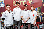 Nursing students, Conor Curtain, Michael Tobin, Dáire Shannon and Laura Donnelly at the signing of the Memorandum of Agreement between KCFE and the Bons Secours hospital at the KCFE on Thursday.