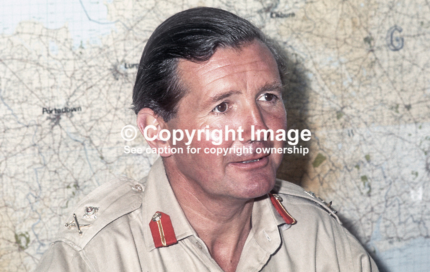 Major General Robert Ford Commander Land Forces During