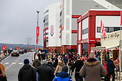 2nd December 2017, bet365 Stadium, Stoke-on-Trent, England; EPL Premier League football, Stoke City versus Swansea City; Fans arriving for the game