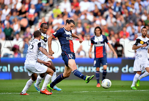31.08.2013. Paris, France. French League football. Paris St Germain versus Guingamp Aug 31st.  Zlatan Ibrahimovic (psg)