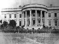 Cassius M. Clay Battalion Defending White House, April 1861. Washington, D.C. (National Archives)<br /> Exact Date Shot Unknown