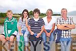 Enjoying the action at the Callinafercy Regatta on Sunday were Cromane RC members l-r; Michael O'Connor, Paula O'Sullivan, John O'Sullivan, Paul O'Sullivan & Liam O'Connor.